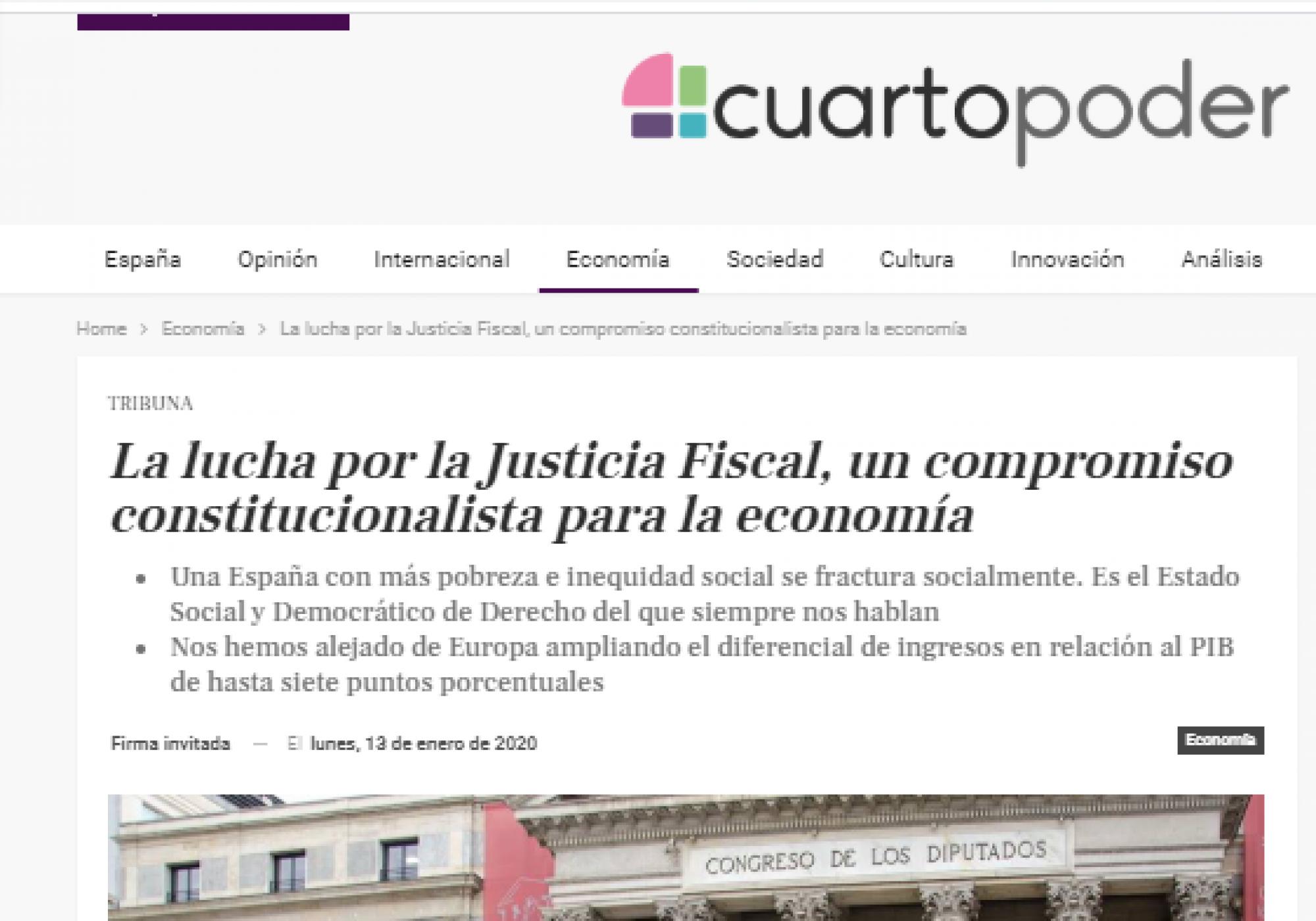 La lucha por la Justicia Fiscal, un compromiso constitucionalista para la economía