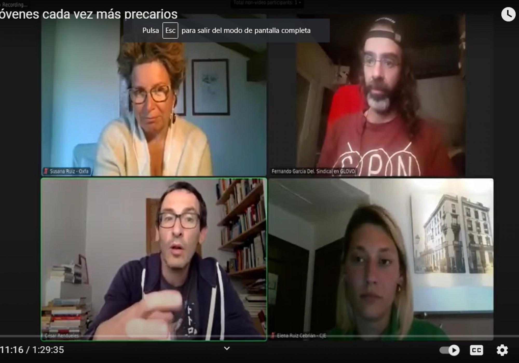 """Vídeo y resumen del debate """"Fraude fiscal y jóvenes cada vez más precarios"""""""